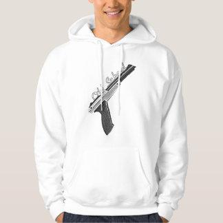 old school gun hooded sweatshirts