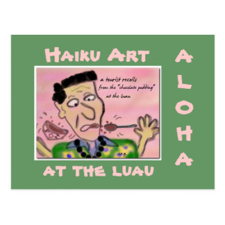 Old School Hawaii Tourist Haiku Art Postcard