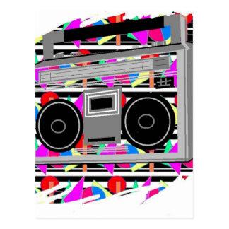 old school hip hop stereo RETRO 1980s boombox Postcard