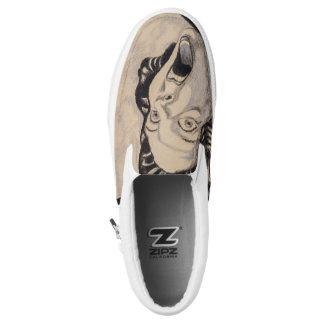 Old School Horror Slip-On Sneakers