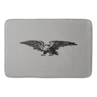 Old school illustration Bald Eagle Bath Mats