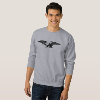 Old school illustration Bald Eagle Men Sweatshirts