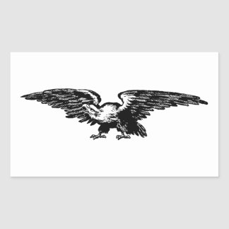 Old school illustration Bald Eagle Stickers