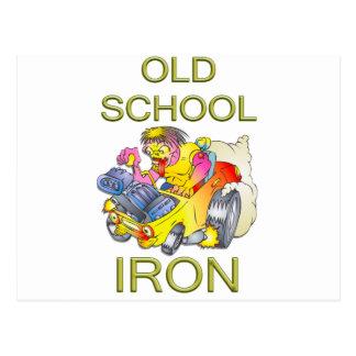 Old School Iron Postcard