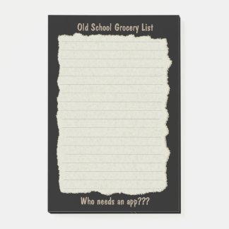 Old School List Notepad