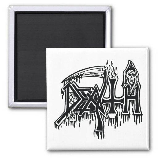 Old School Logo white magnet