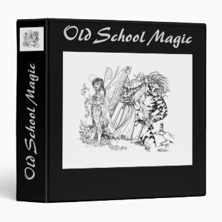 Old School Magic 3 Ring Binder