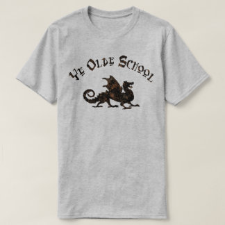 Old School - Medieval Dragon King Arthur Knights T-Shirt