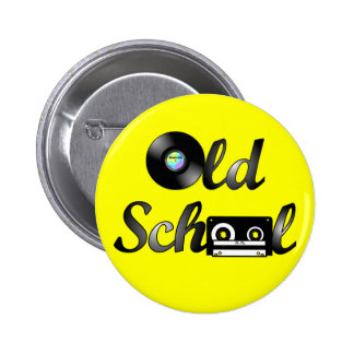 Old School Music Media Round (Yellow) 2 Inch Round Button