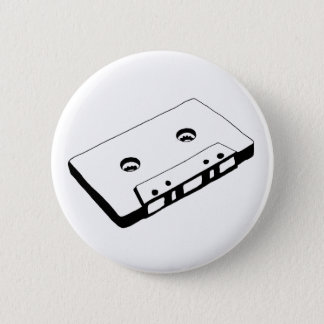 Old School Music Tape Button