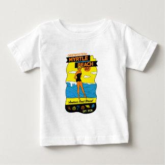 Old-School Myrtle Beach Postcard Baby T-Shirt