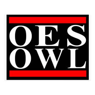 Old School OES OWL design Postcard
