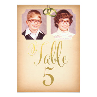 Old School Photos Wedding Table Number Cards