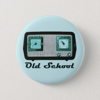 Old School Radio Retro Vintage 2 Inch Round Button