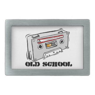 Old School - Rectangular Belt Buckle