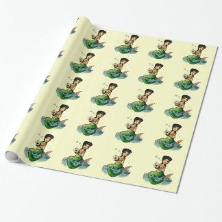 Old School Reggae Mermaid Wrapping Paper