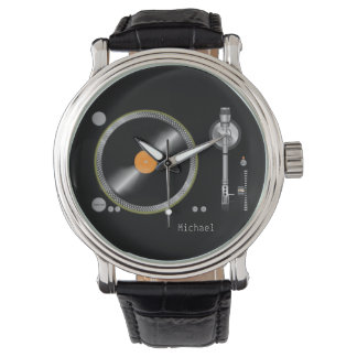 Old School Retro  Turntable Vinyl Record Wrist Watch