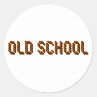 Old School Round Sticker