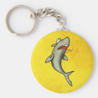Old School Sailor Shark Keychain