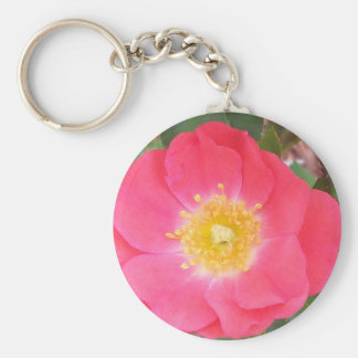 Old School Salmon colored rose Keychain