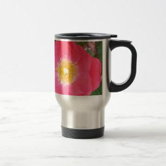 Old School Salmon colored rose Travel Mug