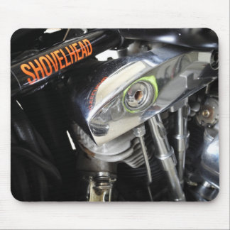 Old School Shovelhead Motorcycle Mouse Pad