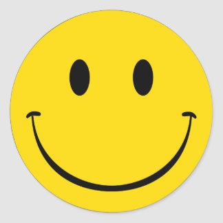 Old School Smiley Round Sticker