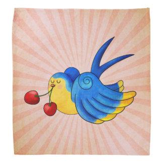 Old School Swallow with Cherry Head Kerchief