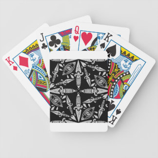 Old school tattoo daggers and eyes bicycle playing cards