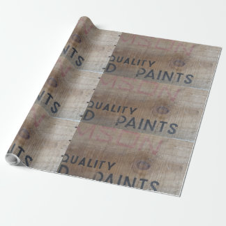 old school timber crate wrapping paper