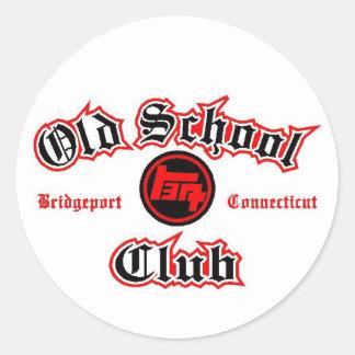 old school toyota club classic round sticker
