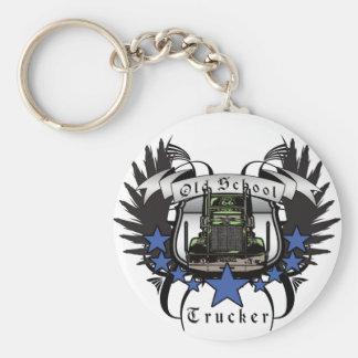 Old School Trucker Key Chain