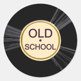 Old School Vinyl Classic Round Sticker