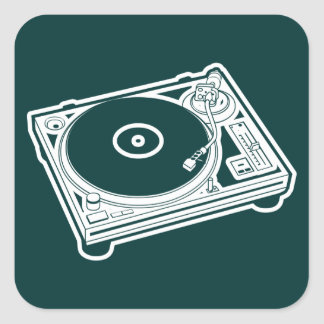 Old School Wax / Turntable Square Sticker