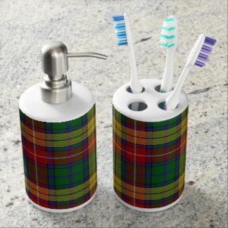 Old Scots Clan Buchanan Tartan Plaid Bathroom Set