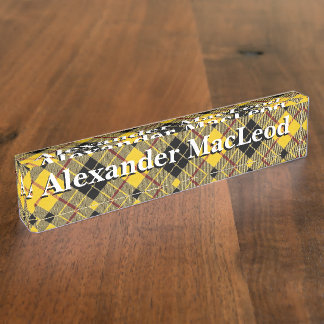 Old Scots Clan MacLeod of Lewis Tartan Name Plate