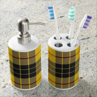 Old Scots Clan MacLeod Tartan Plaid Bathroom Set