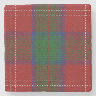 Old Scots Tavern Clan Chisholm Tartan Stone Coaster
