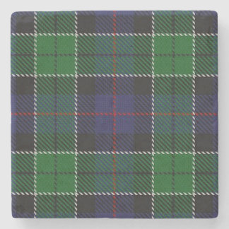 Old Scots Tavern Clan Leslie Hunting Tartan Stone Coaster