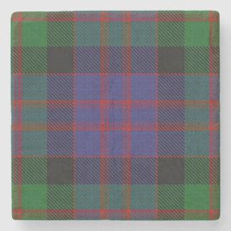 Old Scots Tavern Clan MacDonald Donald Tartan Stone Beverage Coaster