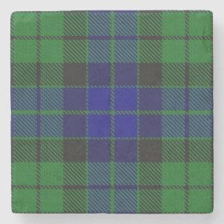 Old Scots Tavern Clan MacKay Tartan Stone Coaster