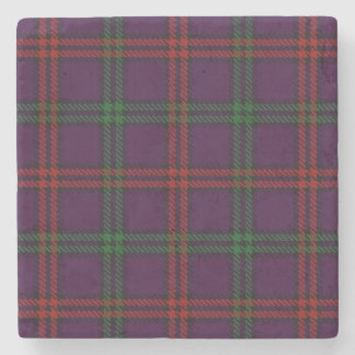 Old Scots Tavern Clan Montgomery Tartan Stone Beverage Coaster