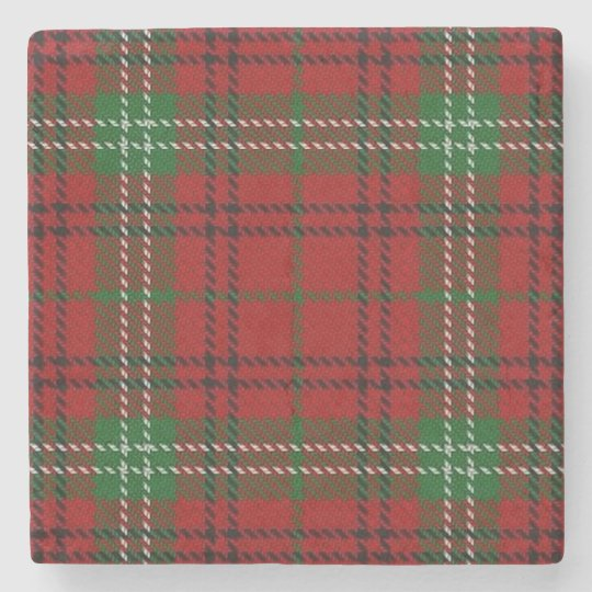 Old Scots Tavern Clan Morrison Tartan Stone Coaster