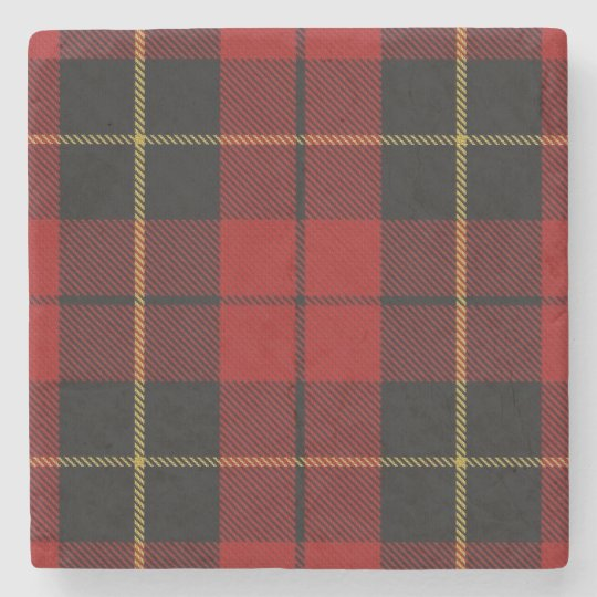 Old Scots Tavern Clan Wallace Tartan Stone Coaster
