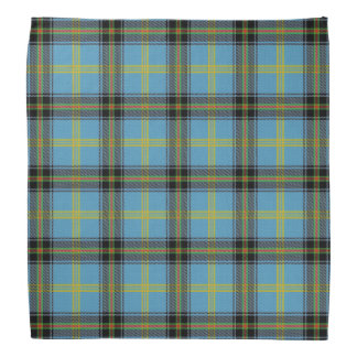 Old Scotsman Clan Bell Blue Black Tartan Plaid Bandana