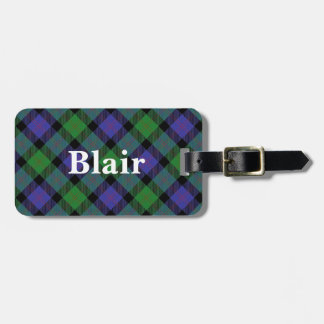 Old Scotsman Clan Blair Tartan Luggage Tag
