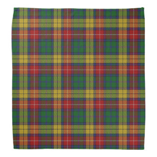 Old Scotsman Clan Buchanan Tartan Plaid Kerchief