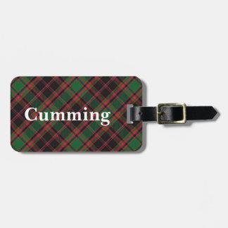 Old Scotsman Clan Cumming Tartan Luggage Tag