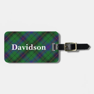 Old Scotsman Clan Davidson Tartan Luggage Tag