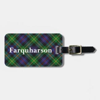 Old Scotsman Clan Farquharson Tartan Luggage Tag